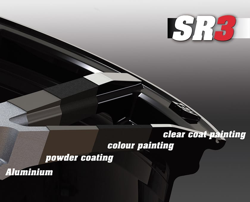 SR3 coating layers on AEZ Straight dark